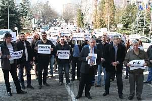 Marş de protest la adresa Guvernării