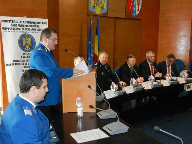 Evaluarea activității și rezultatele obținute de Inspectoratul de Jandarmi Județean Botoșani în anul 2016