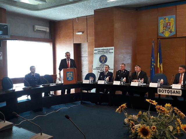 Mesajul președintelui Consiliului Județean Botoșani Costică Macaleți cu ocazia bilanțului pe 2016 al  Jandarmeriei din Botoșani