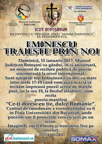 """""""Eminescu vorbește prin noi"""""""