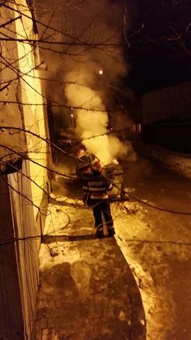 Incendiu  provocat de persoane iresponsabile