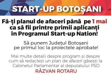 """POLITICARăzvan Rotaru: """"Am deschis Start-up Botoșani, prima pagină de facebook pentru comunicarea directă cu tinerii antreprenori"""""""