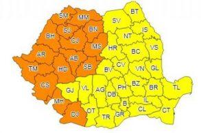 METEOCoduri portocaliu și galben de caniculă, în toată țara