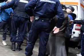 EVENIMENTJandarmii au intervenit pentru menținerea liniștii publice