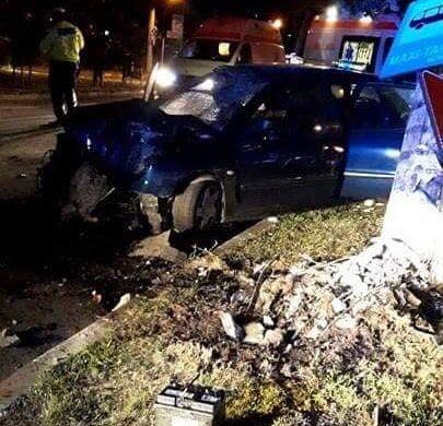EVENIMENTPatru tineri pe Bulevardul M. Eminescu din Botoșani, accidentati de un șofer beat