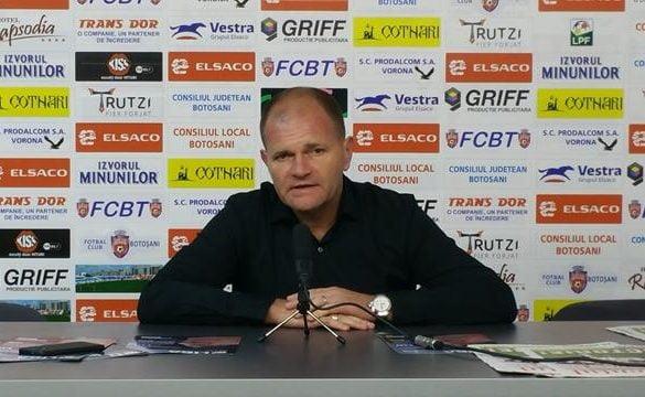 """SPORT- FOTBALCORNEL SFAIŢER: """" Am întâlnit o echipa cu o dorinţa de a obţine ceva la Botoşani"""""""