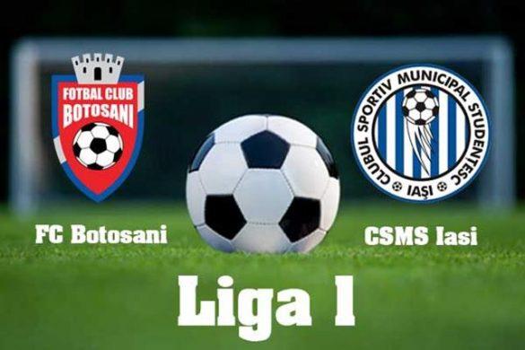 SPORT- FOTBALAstăzi: FC Botoşani – CSM Poli Iaşi. Derby-ul Moldovei pe Municipal