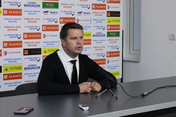 """SPORT- FOTBALFLAVIUS STOICAN: """"De la 2-0, nu este uşor să revii pe terenul unei echipe cum este Botoşaniul"""""""