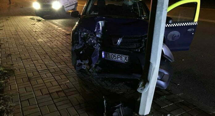 EVENIMENTAccident rutier produs de un taximetrist la ieșirea spre Suceava