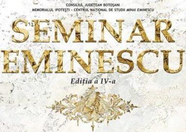 EVENIMENTCentrul Naţional de Studii Mihai Eminescu organizează, în perioada 20 – 22 octombrie 2017,  a IV-a ediţie a Seminarului Mihai Eminescu.