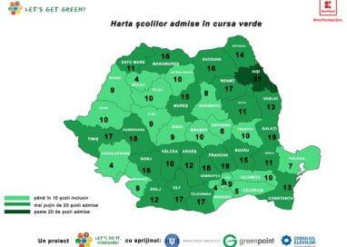 """EVENIMENT520 de școli vor participa în cursa pentru un viitor verde  """"Let's Get Green!"""""""
