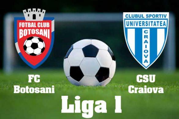 SPORT -FOTBALAstăzi, ora 20:45, FC Botoşani- CSU Craiova