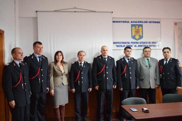 EVENIMENTPompieri botoşăneni avansaţi în grad, de Ziua Naţională a României
