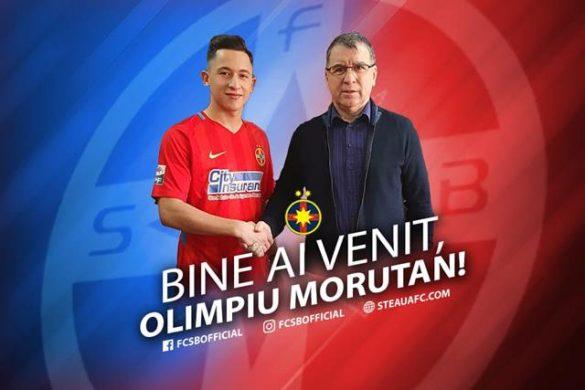 SPORT- FOTBALOlimpiu Moruțan a devenit oficial jucătorul lui FCSB