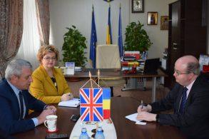 ADMINISTRATIEPresedintele de la CJ a primit vizita ambasadorului Marii Britanii în România