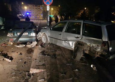 EVENIMENTPrăpăd pe strada Cuza Vodă făcut de un șofer băut