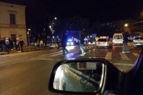 ACCIDENTImpact între două mașini în sensul giratoriu de pe Marchian
