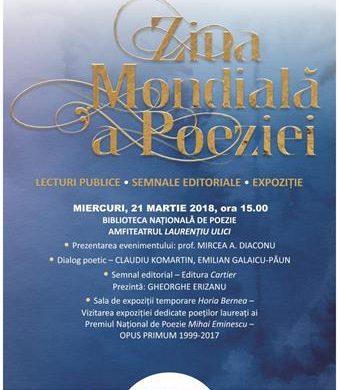 CULTURAMemorialul Ipoteşti sărbătoreşte, miercuri, 21 martie, Ziua Mondială a Poeziei